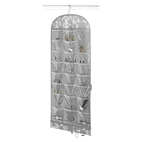 bed bath and beyond jewelry organizer hanging jewelry organizer in grey swirl bed bath beyond