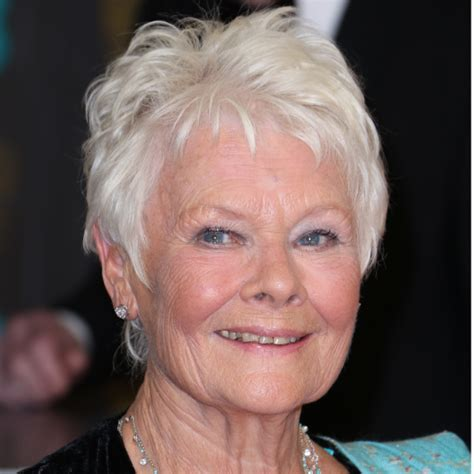 how to cut judi dench bangs the best hairstyles for older women dame judi dench