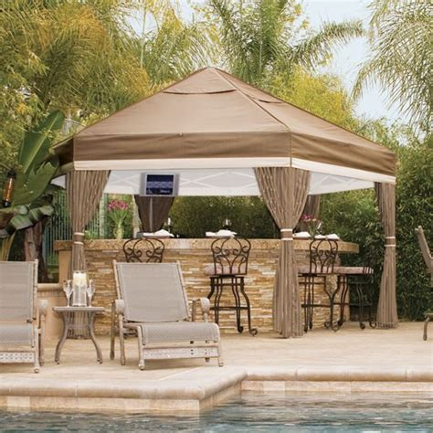 weber grill pavillon canvas patio gazebo at homeinfatuation