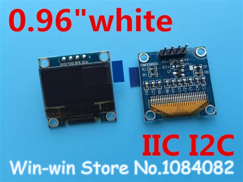 Lcd Oled 0 96 White Display I2c Module White Arduino aliexpress buy 1pcs 0 96 quot white 0 96 inch oled module new 128x64 oled lcd led display
