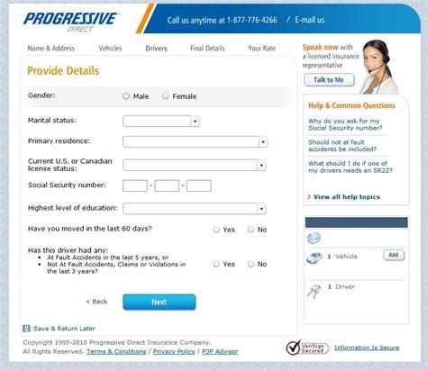progressive house insurance quote progressive auto insurance quotes form quotesgram