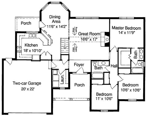 simple house floor plans with measurements simple square