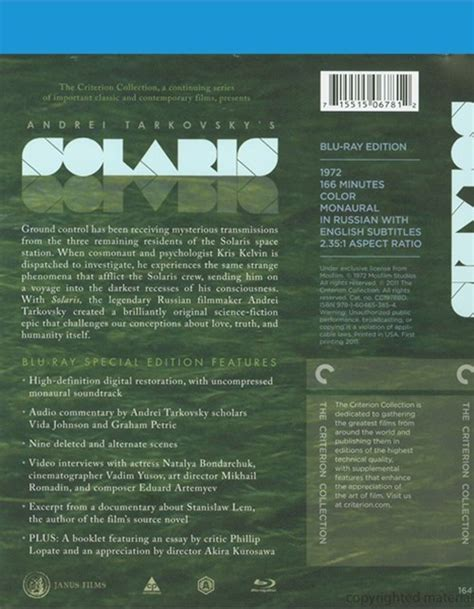 solaris  criterion collection blu ray  dvd empire