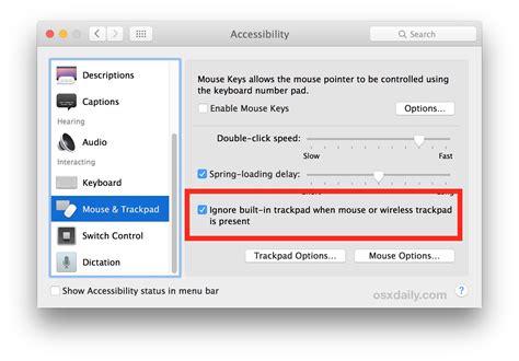 Mouse Eksternal cara mengabaikan trackpad built in ketika memakai mouse eksternal di macbook insightmac