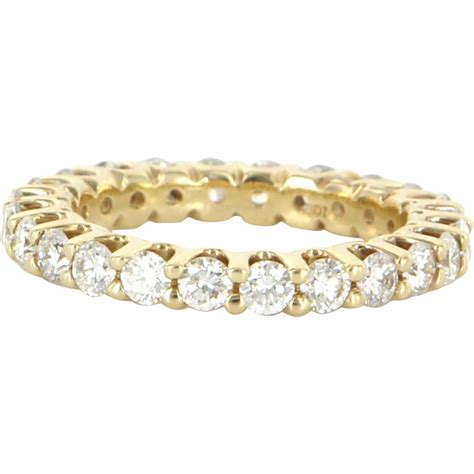 estate 14 karat yellow gold eternity ring