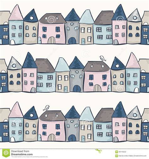 seamless pattern houses seamless pattern with houses stock vector image 60118222