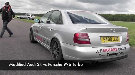 Porsche 996 S4 by Modified Audi S4 Vs Porsche 996 Turbo