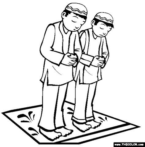 coloring pages islamic praying coloring page free praying online coloring