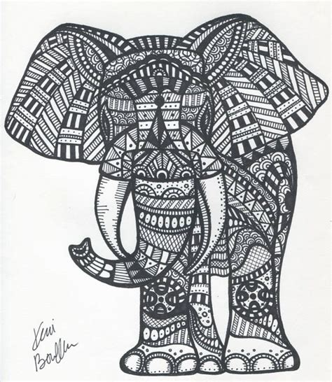 hipster elephant coloring page unavailable listing on etsy