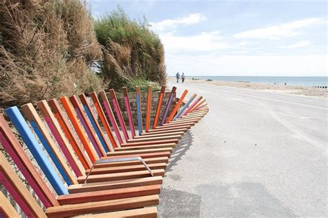 beach benches designs the longest bench in the world gives everyone a fun place to relax by the beach