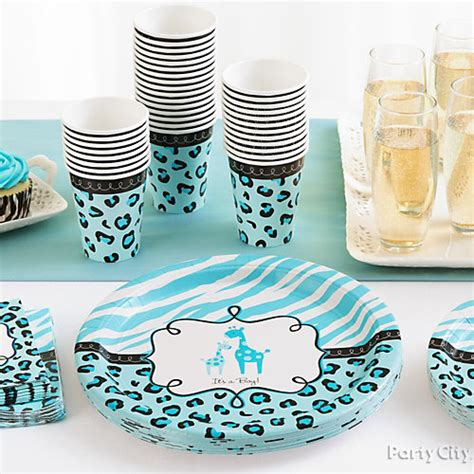 Baby Shower Place Setting Ideas by Blue Safari Baby Shower Place Settings Idea Blue Safari