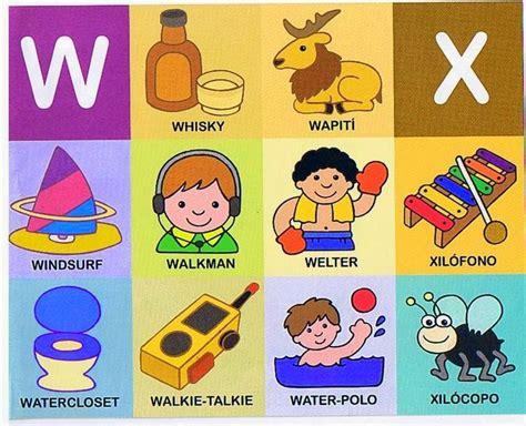 imagenes q inicien con la letra w palabras y frases con x lectoescritura material para