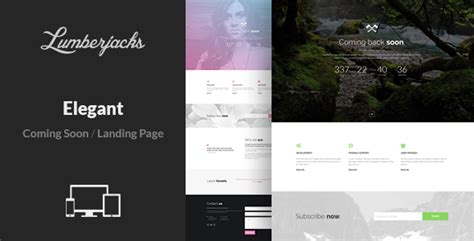 Elegant Minimal Responsive Coming Soon Template Bootstrap Stage Coming Soon Landing Page Template