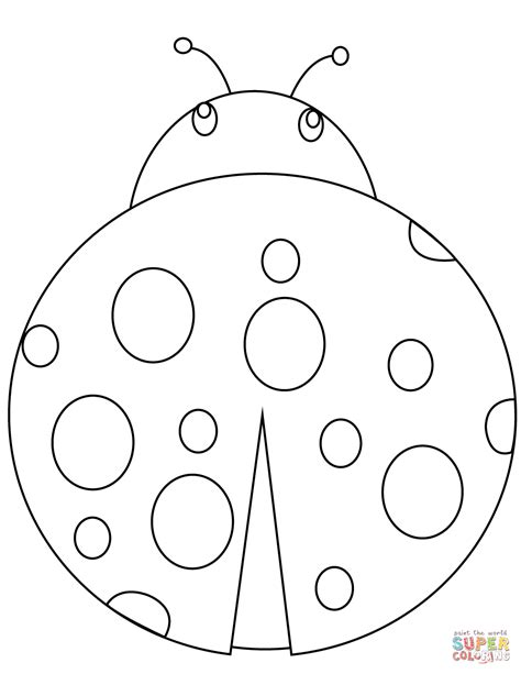 Ladybug Pictures To Color by Ladybug Coloring Page Free Printable Coloring Pages