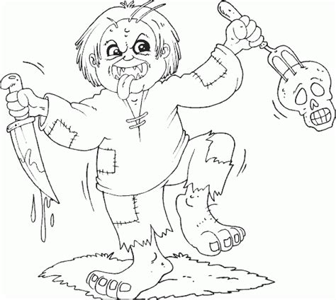 really scary halloween coloring pages scary halloween coloring pages