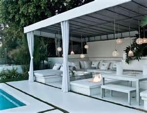 Backyard Cabana Ideas Diy Outdoor Cabana Beverly Cabana With Swimming Pool View And Outdoor Fireplace