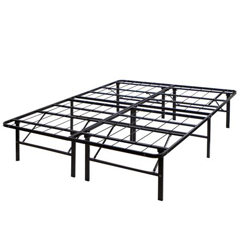 foundation bed frame modern full size bi fold folding platform metal bed frame