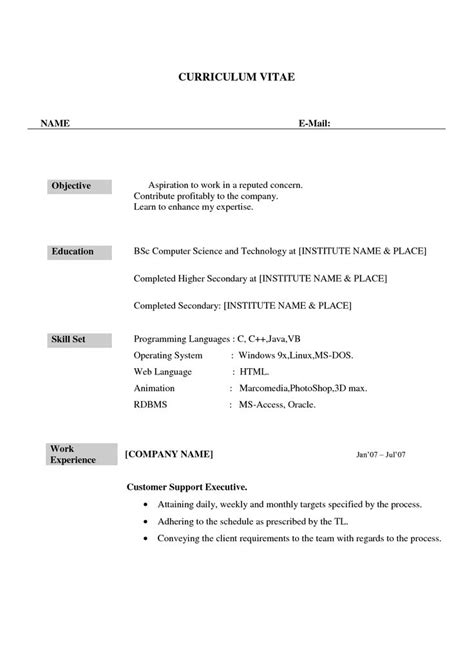 Career Objective For Resume For B Fresher by Best 25 Resume Format For Freshers Ideas On
