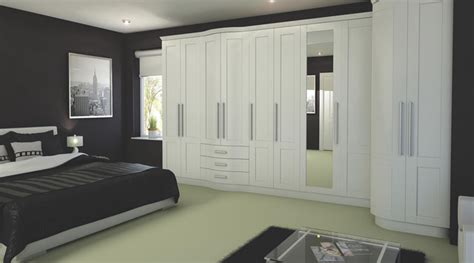 contemporary white modular bedroom furniture system