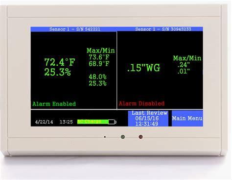 Room Temperature Monitor by Tv2 Digital Cleanroom Monitor Alarm Track Temperature