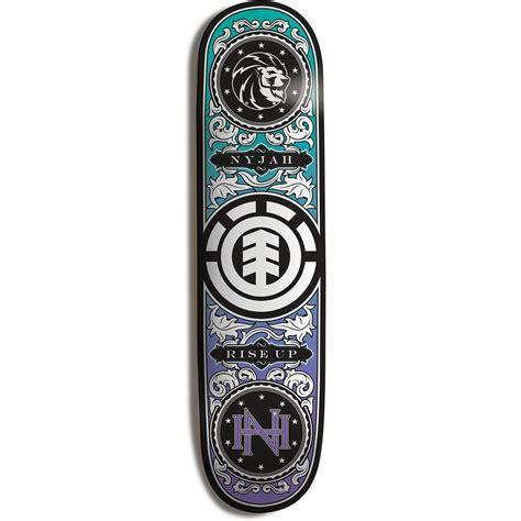 element deck element nyjah shuffle skateboard deck evo