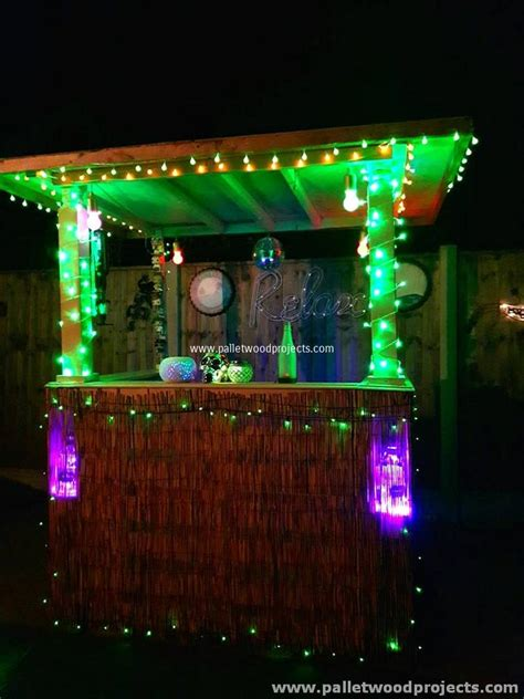 Recycled Pallet Bars With Lights Pallet Wood Projects Make Your Own Led Light Bar
