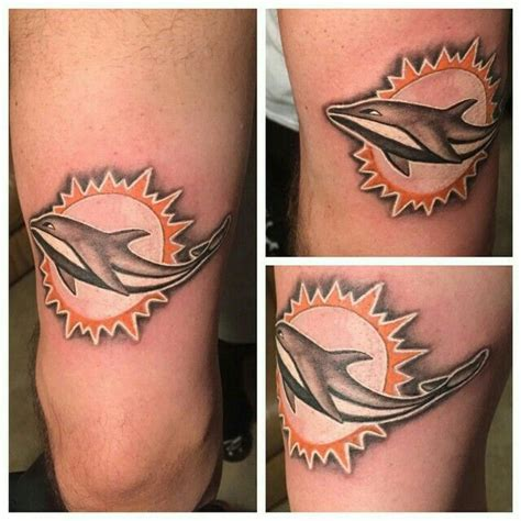 miami dolphins tattoo 13 best miami dolphins tattoos images on