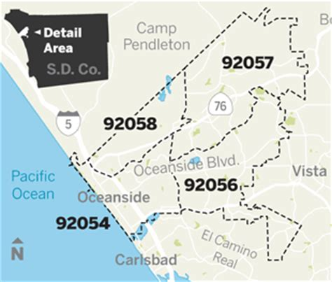 oceanside ca map zip codes oceanside california map