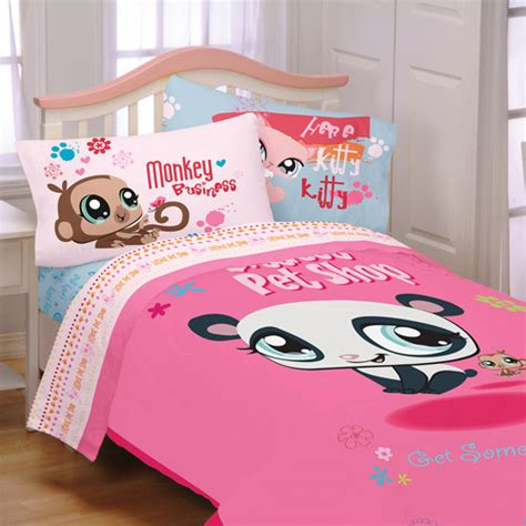 pet shop littlest lane bedding bed sheet set full size ebay
