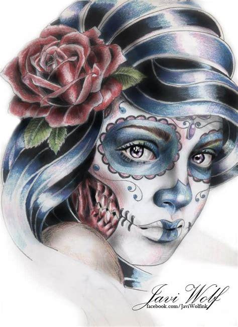 Brilliant Gangster Catrina Tattoo Design
