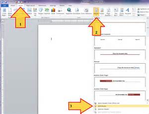 How To Create Template by Create A Letterhead Template In Microsoft Word 2010