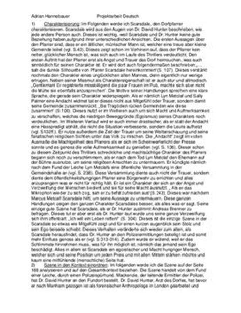 Muster Charakterisierung Chemie Des Todes Buchkritik Und Charakterisierung Schulhilfe De