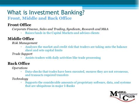 what is a investment banker investment banking 101 f08