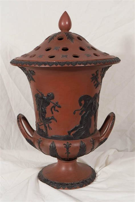 Wedgwood Black Basalt Vase by Wedgwood Rosso Antico Vase With Black Basalt Decoration At