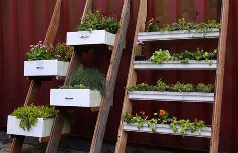 Gutter Planter Box by The Seattle Times Turn Drawers And Gutters Into Planter Boxes