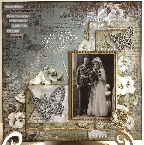 Golden Wedding Album Layout by The Craftz Boutique Sanctuary Layout 2 Blue Fern Studios