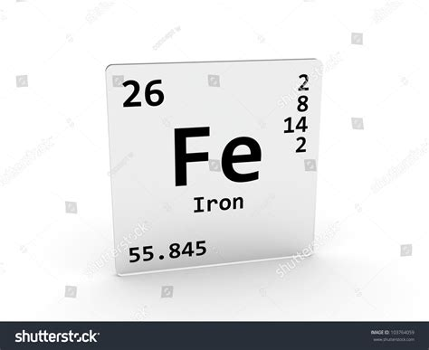 Symbol For Iron On Periodic Table by Iron Symbol Fe Element Periodic Table Stock Illustration 103764059