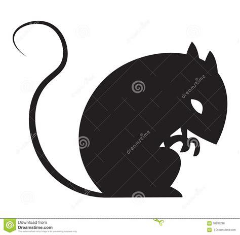 imagenes de ratas halloween halloween rat silhouette in vector stock vector