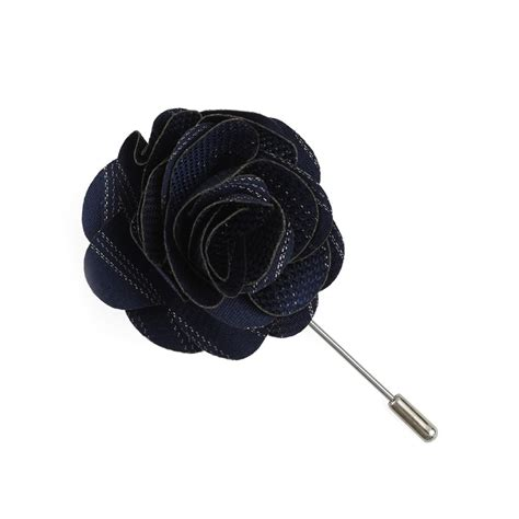 Lapel Pin Pin Tuspin Bros Brown Striped Flower navy studded stripe lapel flower pin ties bow ties and pocket squares the tie bar