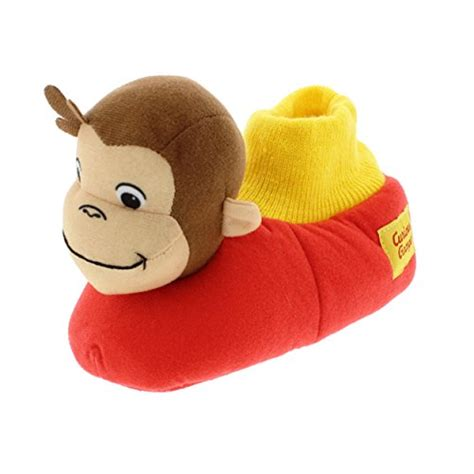 sock top slippers toddlers curious george sock top slippers 9 10 m us