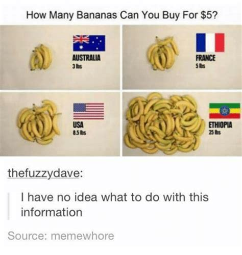 How Many Bananas Can You Buy For 5 Australia France Usa Ethiopia 85bs Thefuzzy Dave I Have No