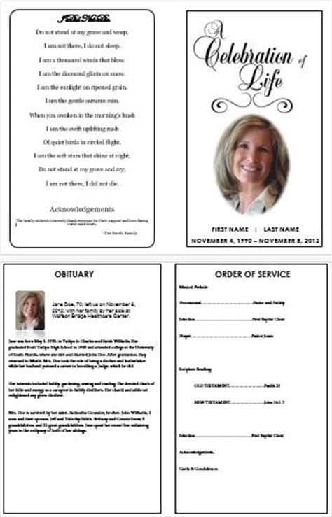 funeral leaflet template free how to make a funeral programme using ms word funeral