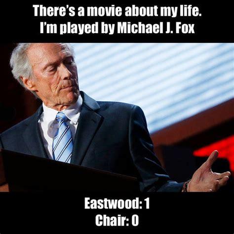 Clint Eastwood Chair Meme - eastwood 1 chair 0 clint eastwood s empty chair speech