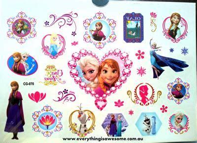 Disney Frozen Temporary Tattoos For New everything is awesome disney frozen temporary cg 070