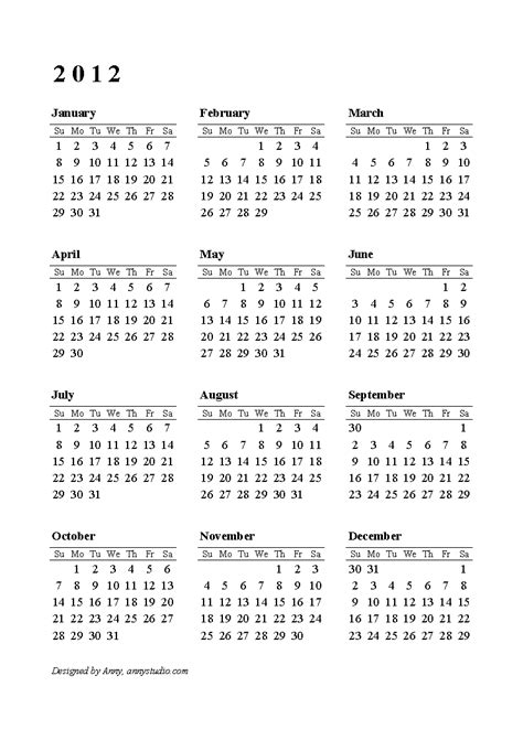 calendar 2012 your title