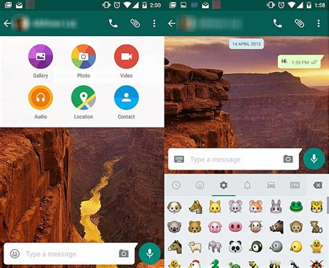 what s the version of android whatsapp for android overhauled with material design interface technology news