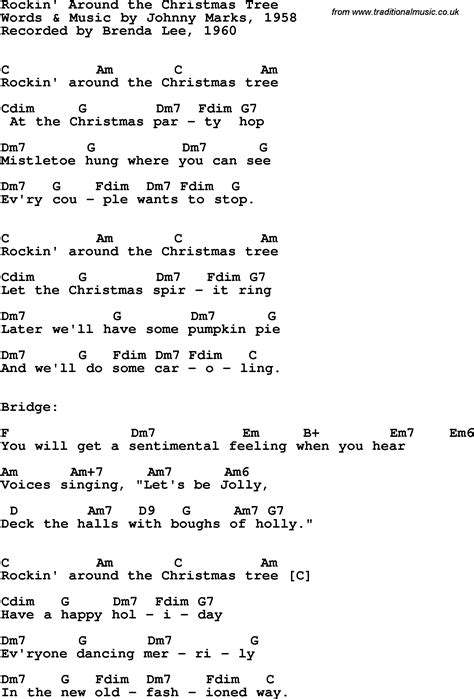rockin around the christmas tree chords search results