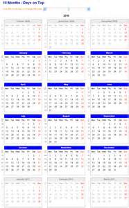 18 Month Calendar Template by 18 Month Printable Calendar Calendar Template 2016