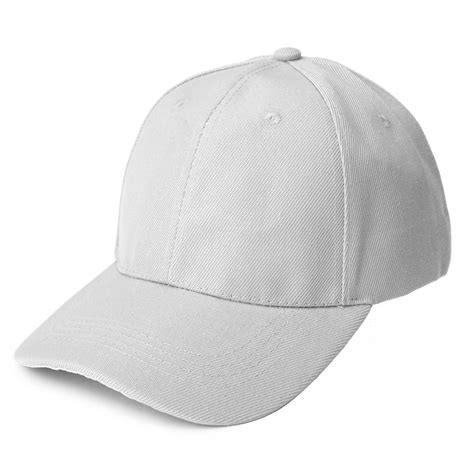 plain baseball cap solid color blank curved visor peaked