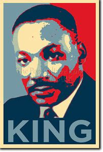 printable martin luther king poster martin luther king art photo print poster gift obama hope